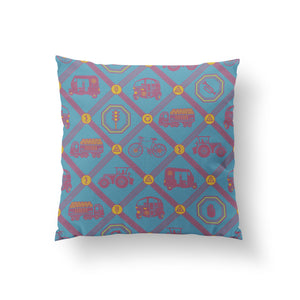Upwardly Mobile Cushion - Cerulean Cotton 50x50cm