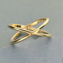 Crisscross Ring - Natural Bronze  - Size 6, 7, & 8