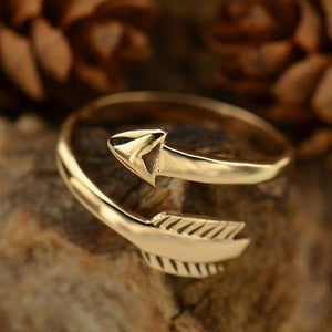Adjustable Arrow Ring - Natural Bronze