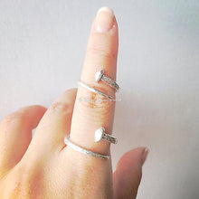 Adjustable Nail Ring - Solid 925 Sterling Silver Oxidized