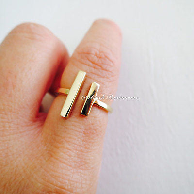 Adjustable Parallel Bars Ring - Natural Bronze