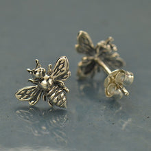 Bumble Bee Post Earrings - Solid 925 Sterling Silver