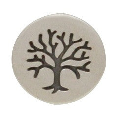 Etched Tree of Life Post Earrings - Yoga Spirit - Solid 925 Sterling Silver