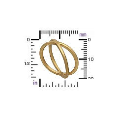 Crisscross Ring - Satin 24K Gold Plated Sterling Silver - Size 6, 7, & 8