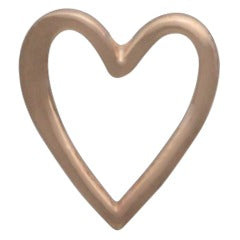 Heart Post Earrings - 18k Rose Gold Plated Sterling Silver