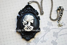 Mr. Skeleton Ornate Victorian Necklace - Day of the Dead Cameo