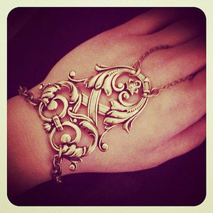 Victrix Tribal Slave Ring Bracelet - Antique Gold Plated Brass