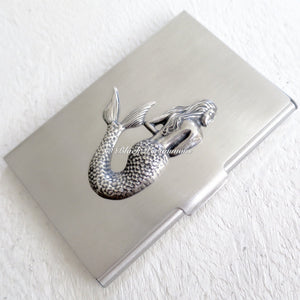 Mermaid Stainless Steel Business Card Case Box