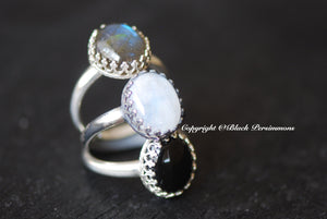 Tove Onyx Ring - Solid 925 Sterling Silver