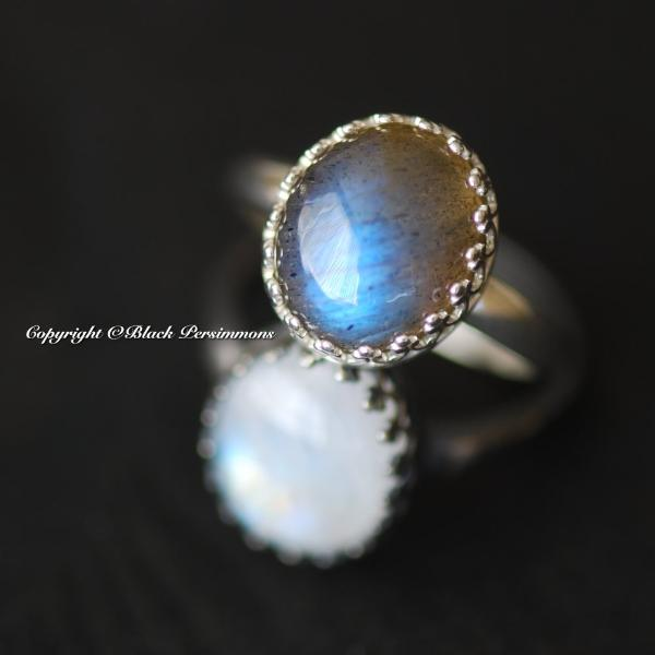 Tove Labradorite Ring - Solid 925 Sterling Silver