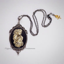 No Regrets Gothic Necklace - Je Ne Regrette Rien Cameo