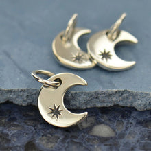 Crescent Moon Necklace - Solid 925 Sterling Silver Charm - Insurance Included