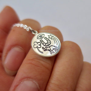 Sterling Silver Lucky Amulet Charm - Add A Chain Option Avaliable - Insurance Included