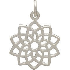 Crown Chakra  Necklace - Solid 925 Sterling Silver Pendant - Insurance Included