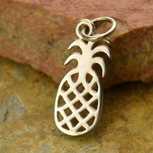 Pineapple Charm Necklace - Natural Bronze