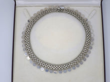 Antique Victorian Sterling Silver Collar Choker with Coin Charms Necklace