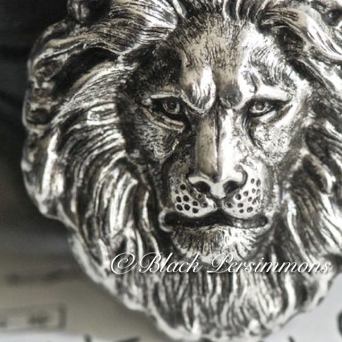 The Lion Necklace - Antique Sterling Silver Plated Brass
