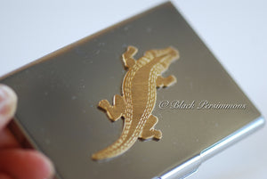 Alligator Stainless Steel Business Card Case Box