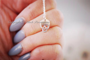 Drogo Necklace - Solid 925 Sterling Silver Skull Skeleton Halloween Charm -  Insurance Included