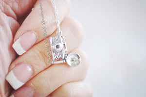Camera with Flash Necklace - Sterling Silver Charm  - Insurance Included