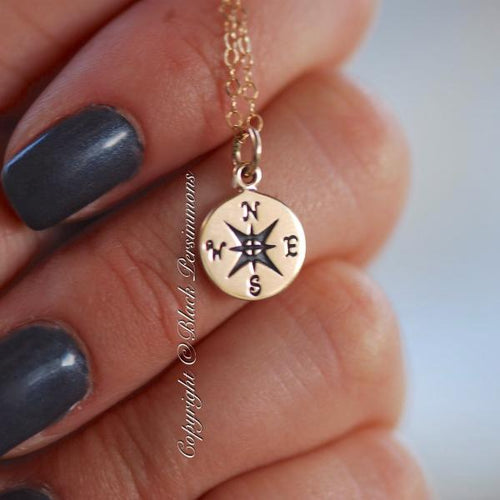 Compass Necklace - Natural Bronze