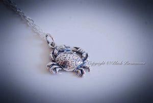 Cancer the Crab Necklace - 3D Sterling Silver Charm Pendant - Insurance Included