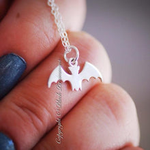 Batty Bat Charm Necklace - Solid 925 Sterling Silver