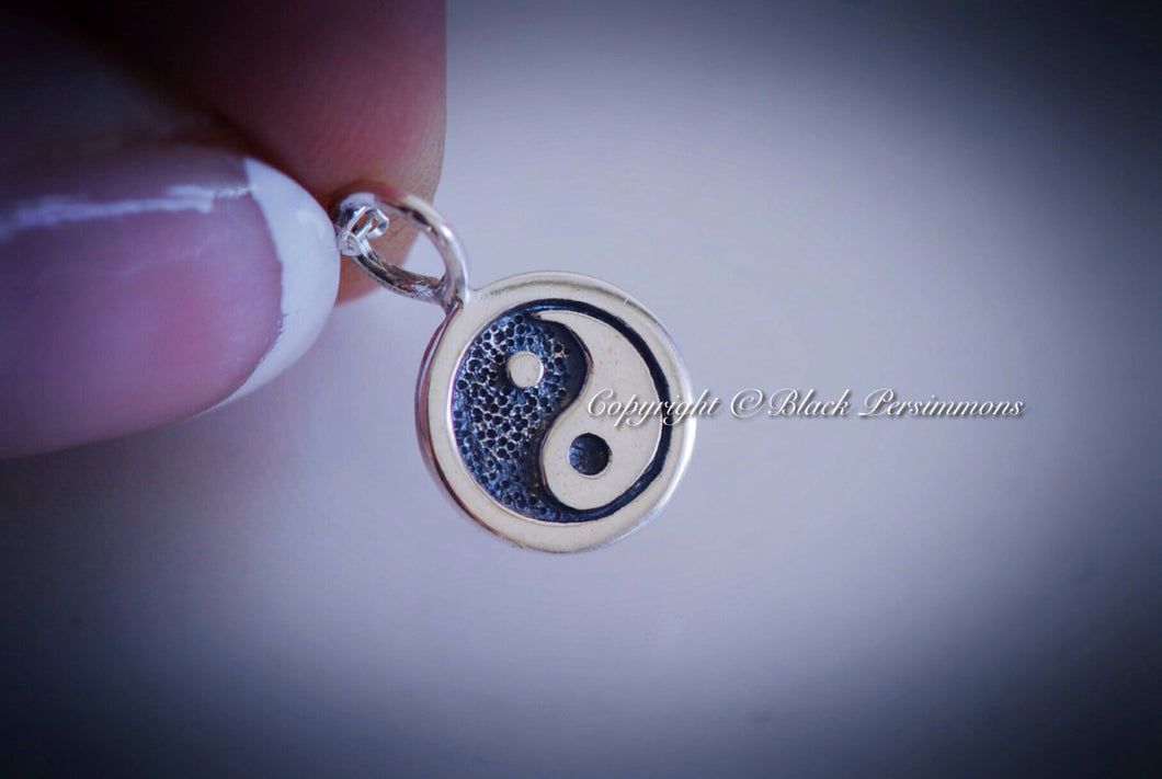 Yin Yang Necklace - Sterling Silver Auspicious Feng Shui Chinese Symbol Charm - Insurance Included