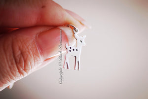 Fawn Necklace - Solid 925 Sterling Silver Pendant Charm - Insurance Included