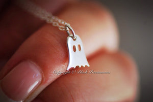Ghost Necklace - Solid 925 Sterling Silver Charm - Insuranace Included