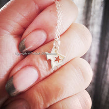 Texas State Necklace - 24k Gold Plated Sterling Silver Vermeil Charm Pendant - Insurance Included