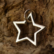 Star Necklace - Solid 925 Openwork Star Charm - Insurance Included