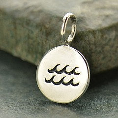 AQUARIUS 925 Sterling Silver Zodiac Charm - Add A Chain Option Avaliable - Insurance Included