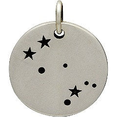 GEMINI 925 Sterling Silver Zodiac Constellation Disc - Add A Chain Option Avaliable - Insurance Included