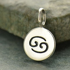 CANCER 925 Sterling Silver Zodiac Charm - Add A Chain Option Avaliable - Insurance Included