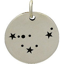 CAPRICORN 925 Sterling Silver  Zodiac Constellation Disc - Add A Chain Option Avaliable - Insurance Included
