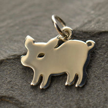 Little Piggy Charm Necklace - Solid 925 Sterling Silver