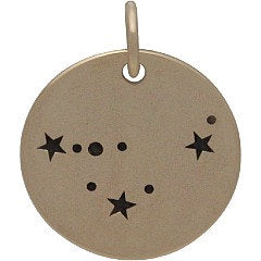 CAPRICORN Natural Bronze Zodiac Constellation Disc - Add A Chain Option Avaliable - Insurance Included