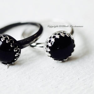 Kari Onyx Ring - Solid 925 Sterling Silver