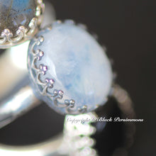 Tove Rainbow Moonstone Ring - Solid 925 Sterling Silver