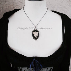 Mr. Sugar Skull Gothic Necklace - Day of the Dead Cameo