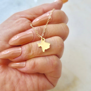 Texas State Necklace - Natural Bronze