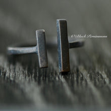 Adjustable Parallel Bars Ring - Oxidized Patina Solid 925 Sterling Silver