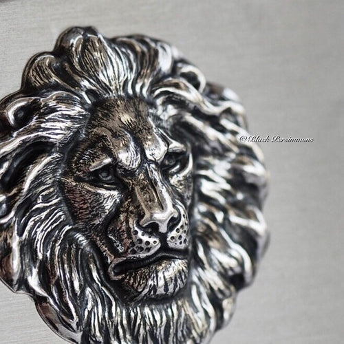 The Lion Stainless Steel Business Card Case Box