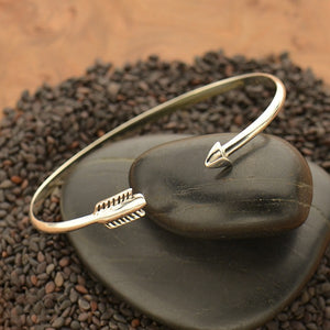 Adjustable Arrow Bracelet - Solid 925 Sterling Silver