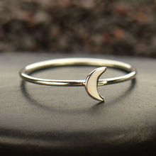 Tiny Moon Ring - Solid 925 Sterling Silver - Size 6, 7, & 8