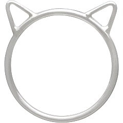 Large Cat Head Ring - Solid 925 Sterling Silver - Size 6, 7, 8, & 9