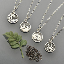 Elemental Charm Necklaces - Solid 925 Sterling Silver