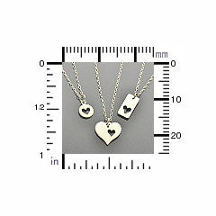 Love Heart Charm Necklaces - Solid 925 Sterling Silver