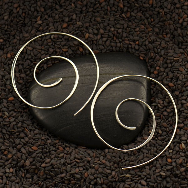 Spiral Earring  - Solid 925 Sterling Silver